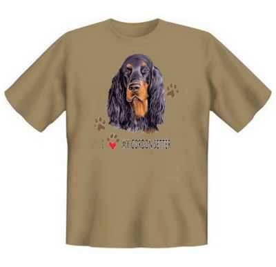 T-Shirt: I love my Gordon Setter
