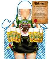 Themenschürze mit GRATIS Urkunde: Oktoberfest Frau
