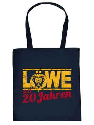 Stofftasche: Löwe seit 20 Jahren