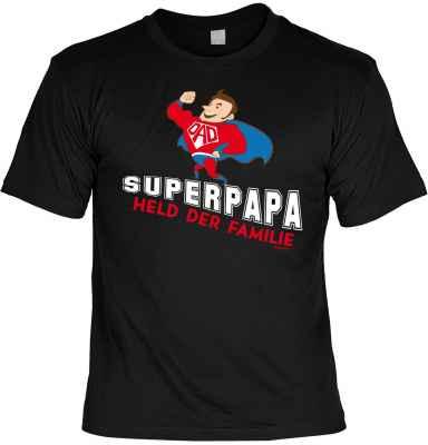 T-Shirt: Superpapa Held der Familie