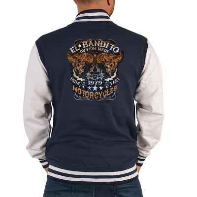 College Jacke Herren: El Bandito - Custom Made - Ride Fast Motorcycles - 1979