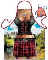 Motiv-Schürze mit kleiner Schürze: Scottish Woman Grillschürze