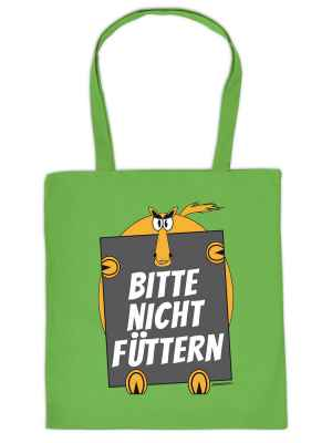 Stofftasche: Bitte nicht füttern!