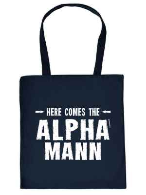 Stofftasche: Here comes the Alpha-Mann