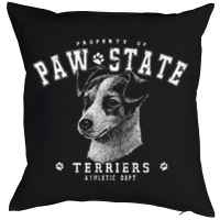 Kissen mit Füllung: Property of Paw State - Terriers - Athletic Dept.