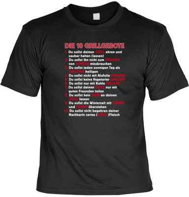 T-Shirt: Die 10 Grillgebote