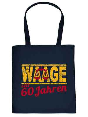 Stofftasche: Waage seit 60 Jahren