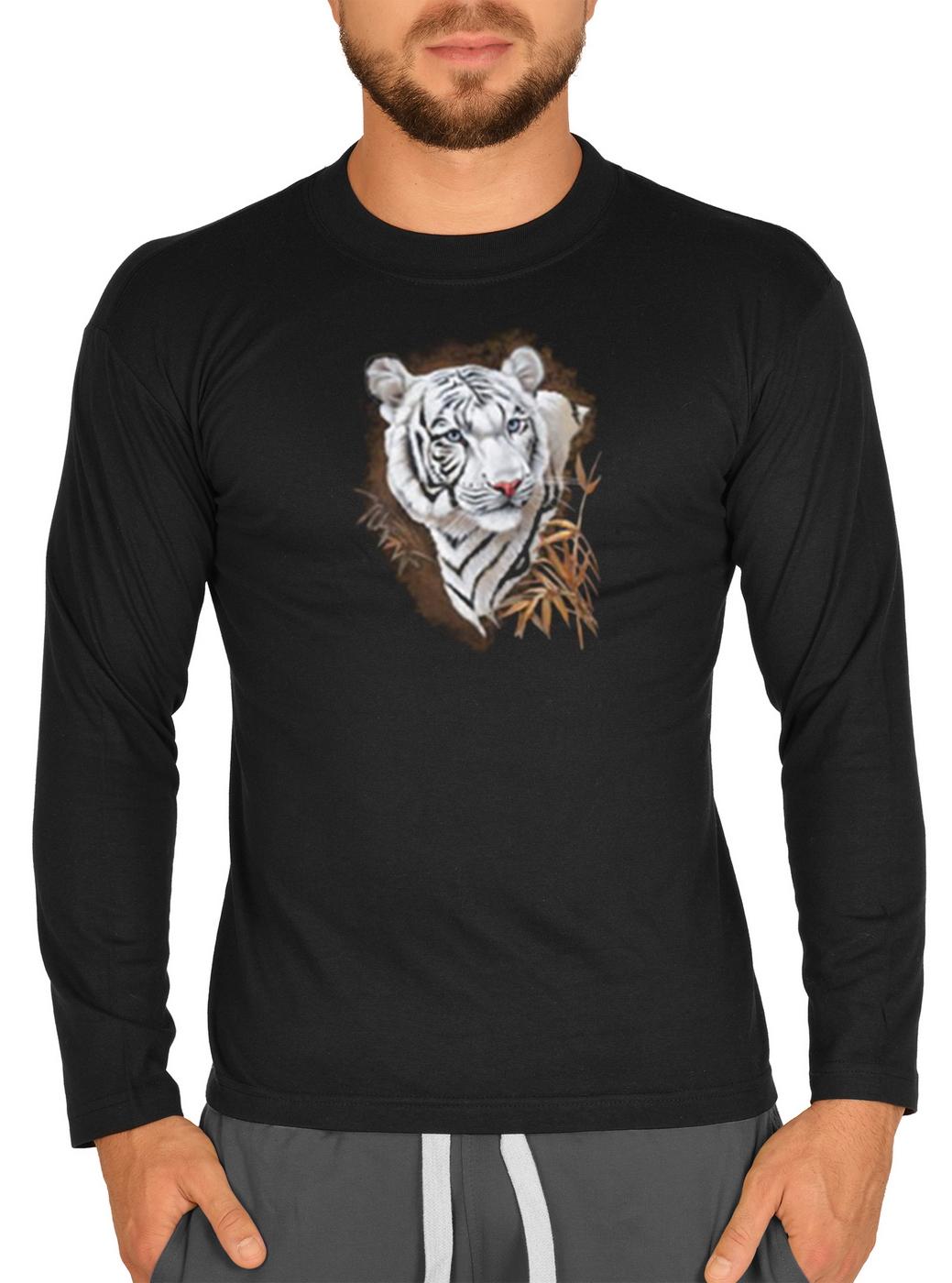 langarmshirt herren wei er tiger goodman shirt fun t. Black Bedroom Furniture Sets. Home Design Ideas