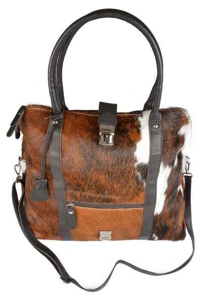 Handtasche: Kuhfelltasche groß Falttasche