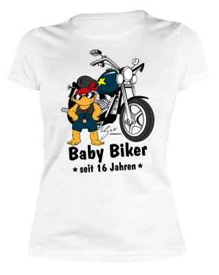 Damen T-Shirt: Baby Biker seit 2001