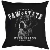 Kissen mit Füllung: Property of Paw State - Spaniels - Athletic Dept.