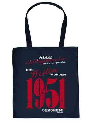 Stofftasche: Tasche Lieblingsmenschen die Besten wurden 1951 geboren