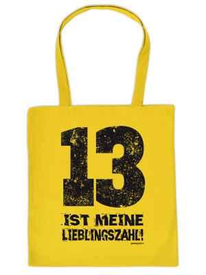 Stofftasche: 13 ist meine Lieblingszahl