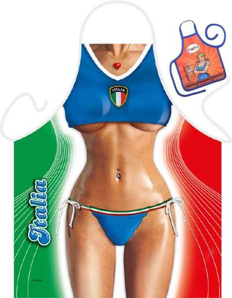 Motiv-Schürze mit kleiner Schürze: Italian Girl