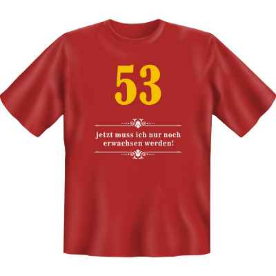 T-Shirt: Über 53 - Jetzt muss ich nur noch Erwachsen werden!