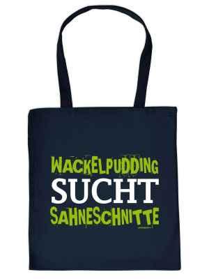 Stofftasche: Wackelpudding sucht Sahneschnitte