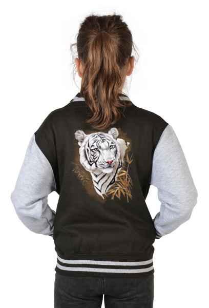 College Jacke Kinder: Weißer Tiger