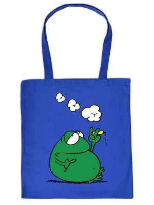 Stofftasche: rauchender Frosch