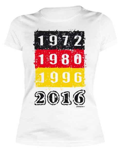 Damen T-Shirt 1972 1980 1996 2016