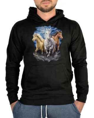 Kapuzensweater: drei Pferde