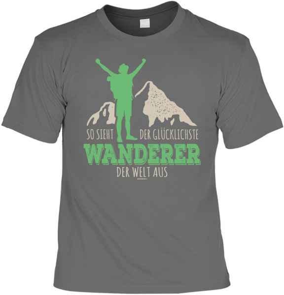 T-Shirt: So sieht der glücklichste Wanderer der Welt aus