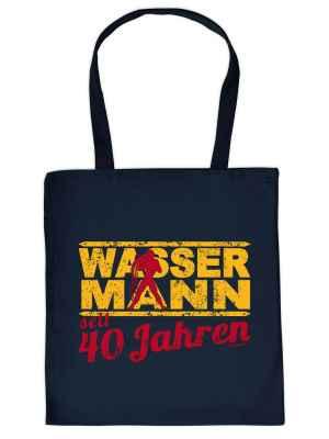 Stofftasche: Wassermann seit 40 Jahren