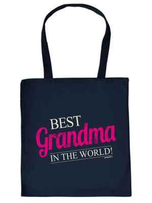 Stofftasche: Best Grandma in the World!