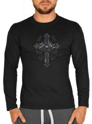 Langarmshirt Herren: Keltisches Kreuz