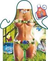 Motiv-Schürze mit kleiner Schürze: Hippie Girl Grillschürze