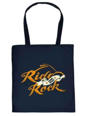Stofftasche: Ride and Rock