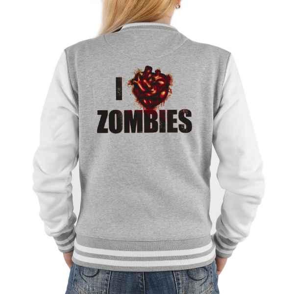 College Jacke Damen: I love Zombies