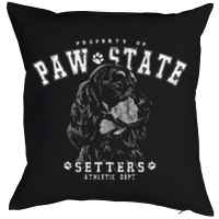 Kissen mit Füllung: Property of Paw State - Setters - Athletic Dept.