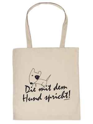 Stofftasche: Die mit dem Hund spricht!