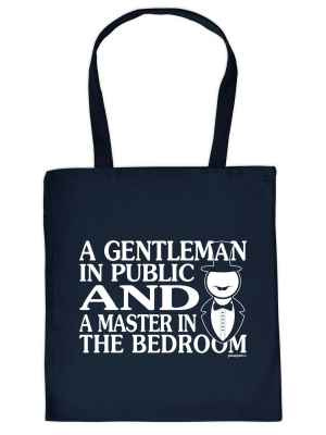 Stofftasche: A Gentleman in Public and a Master in the bedroom