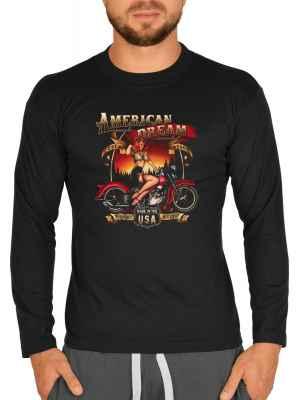 Langarmshirt Herren: American Dream est. 1903 - Made in the USA