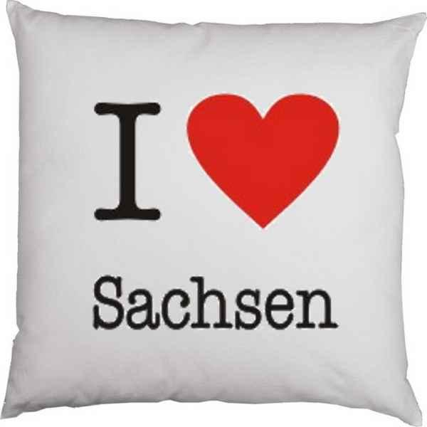 Kissenbezug: I love Sachsen