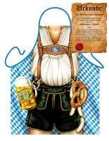 Themenschürze mit GRATIS Urkunde: Oktoberfest Mann