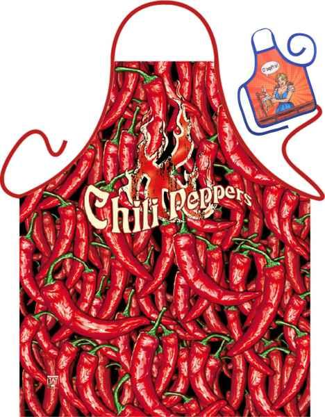 Motiv-Schürze mit kleiner Schürze: Chili Peppers