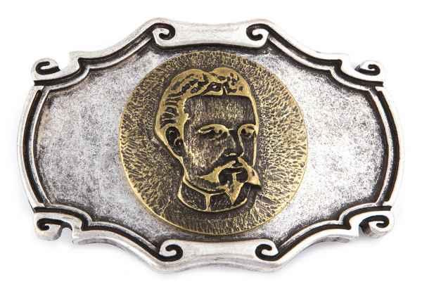 Gürtelschliesse Ludwig silber 40 mm