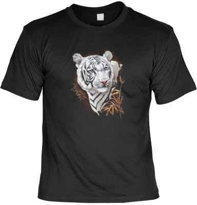 T-Shirt: Weißer Tiger