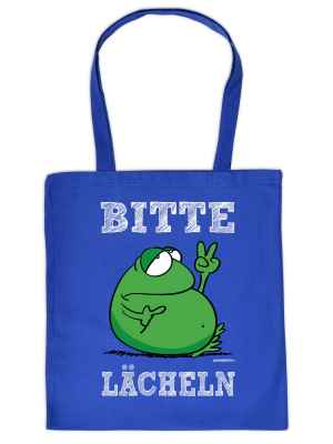 Stofftasche: Lustiger Frosch - Bitte lächeln