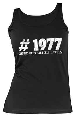 Tank Top Damen: #1977 Geboren um zu leben