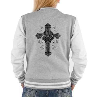 College Jacke Damen: Keltisches Kreuz