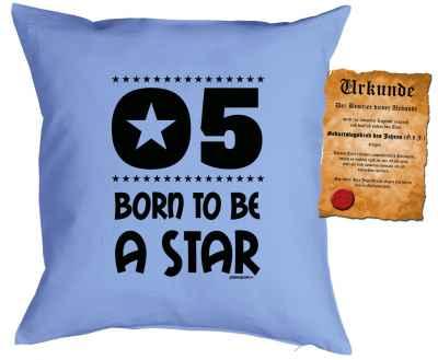 Kissen mit Füllung und Urkunde: 5 Born to be a star