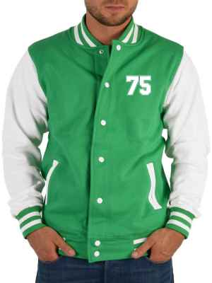 College Jacke Herren: Jacke 75 Farbe: Hell-Grün