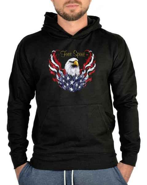 Kapuzensweater: Adler - Free Spririt