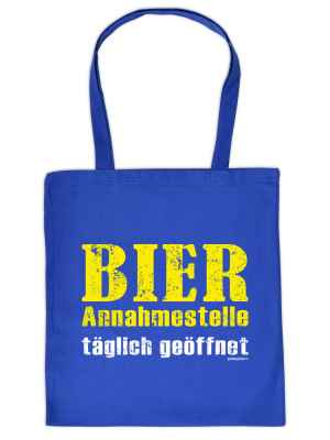Stofftasche: Bier Annahmestelle täglich geöffnet