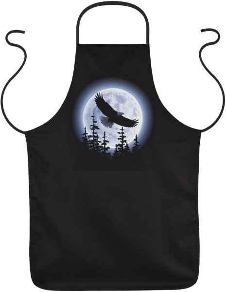 Schürze: Adler im Mondenschein