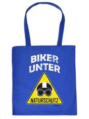 Stofftasche: Biker unter Naturschutz