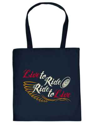 Stofftasche: Live to Ride - Ride to Live